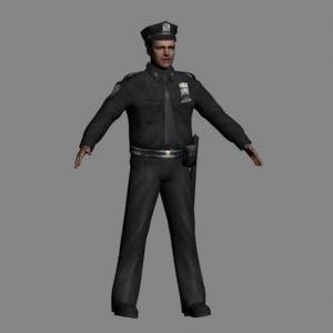 cop police officer 3d model