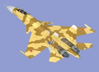 su-37 flanker superflanker 3d model