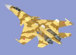 su-37 flanker superflanker 3d model