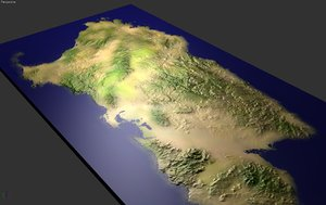 sardinia island height 3d model
