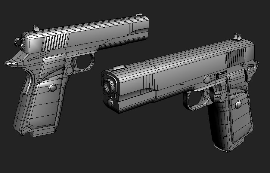 free max model pistol games weapons