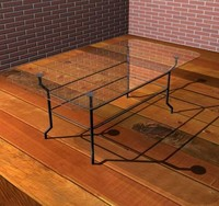 3ds max modern glass table