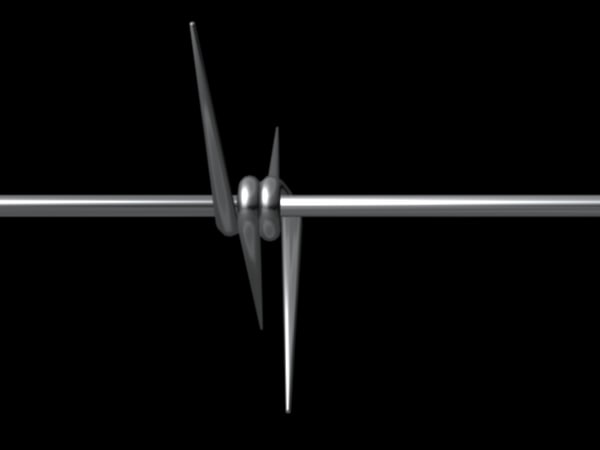 3ds max barbed wire