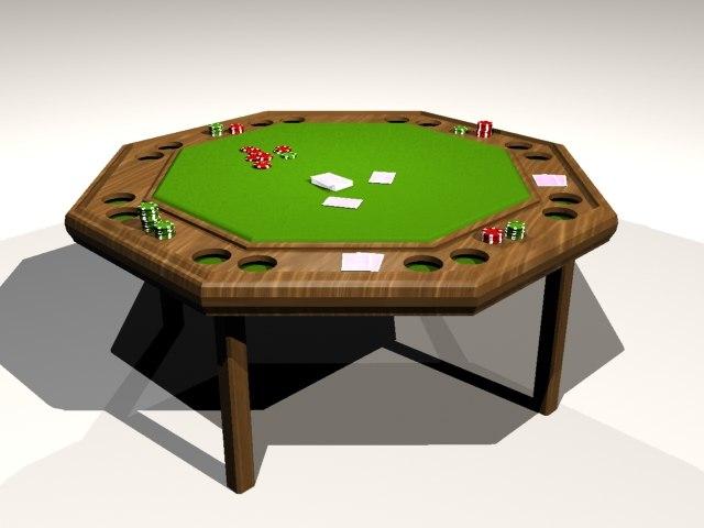 3d model poker table