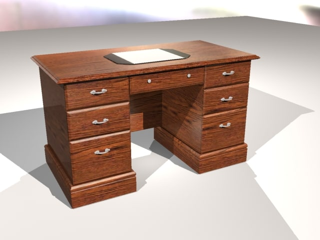 3d model desk study