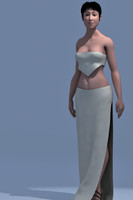 character female 3d model