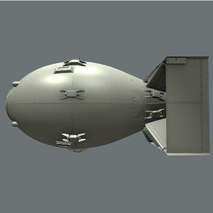 3d model atomic bomb