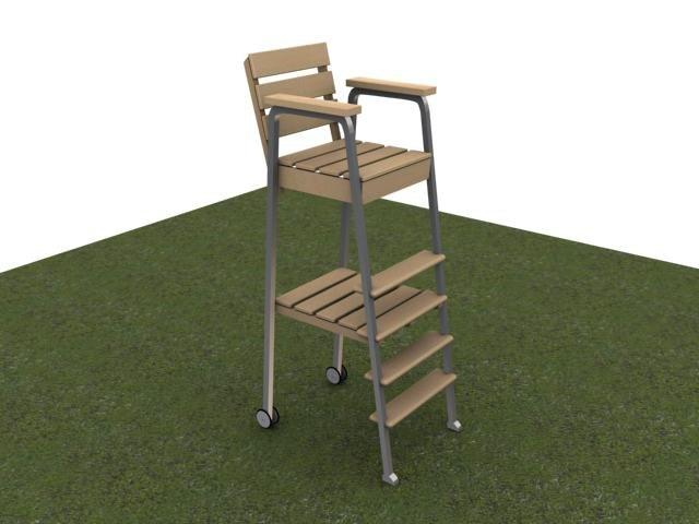 3d tennis umpires chair model