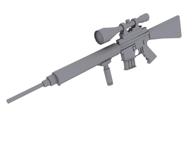 3d model auto sniper