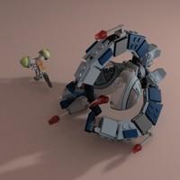 lego droid 3d model