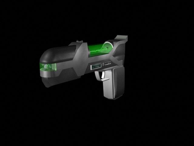 free laser gun 3d model