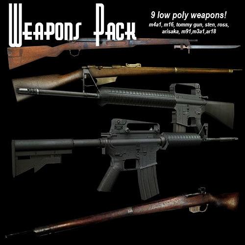 3d model guns weapons 1