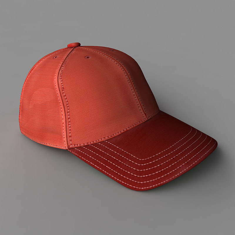 3d model baseball cap colors