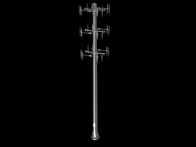 tower antennas 3d model