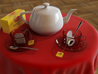 3ds max table lipton tea