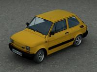 car fiat 126p 3d model