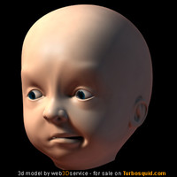 Animatable Baby Head 3d model