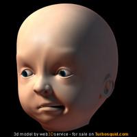 baby head 3d model