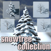 3d 3ds snowtree snow tree