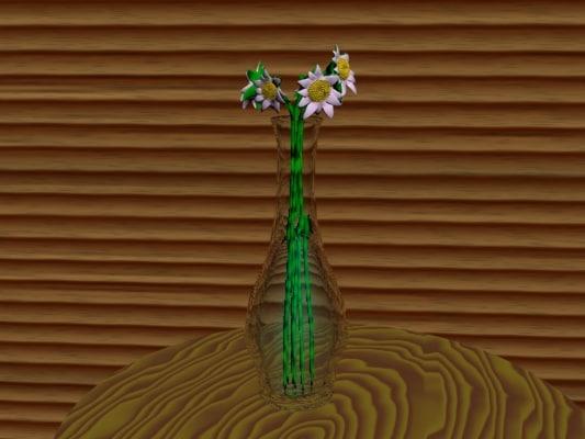 3dsmax flowers vase
