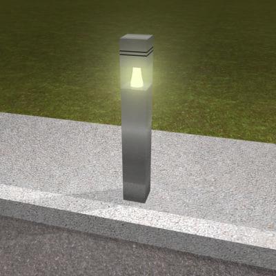 maya bollard lighting