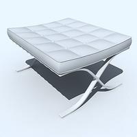 barcelona stool 3d model
