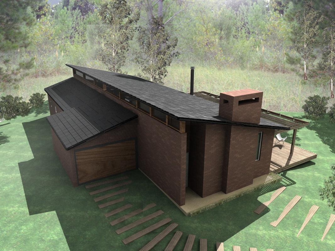 3ds max beach house