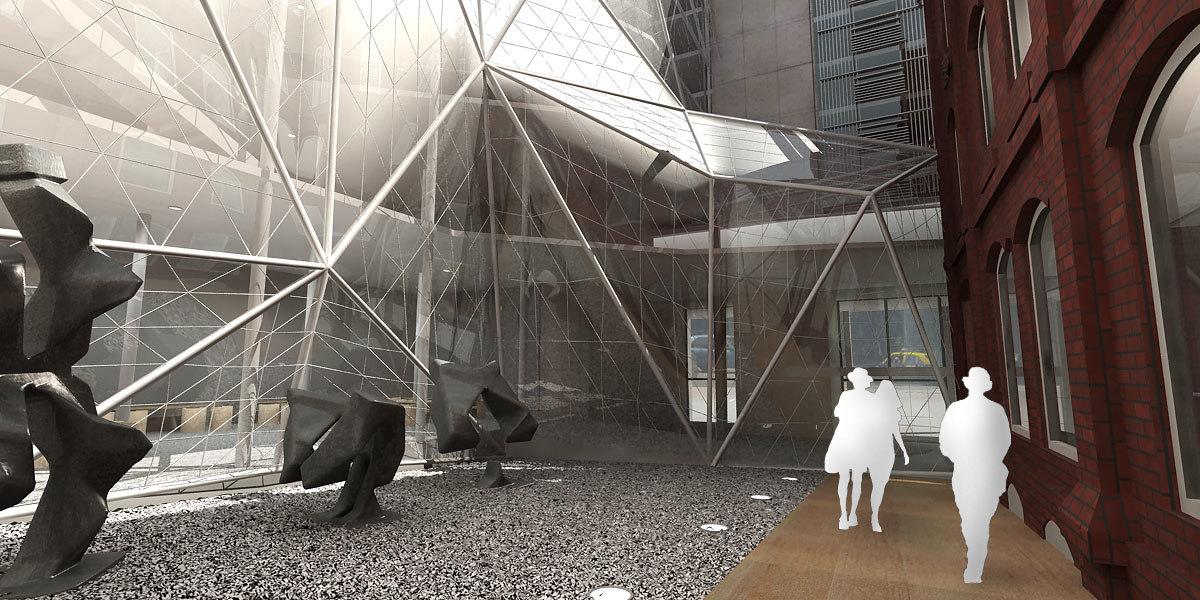 3d model building proyect structure