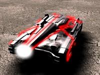 3d model of futuristic tank