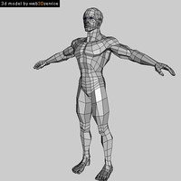 polygonal athletic male 3d model