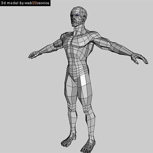 polygonal athletic male 3d model