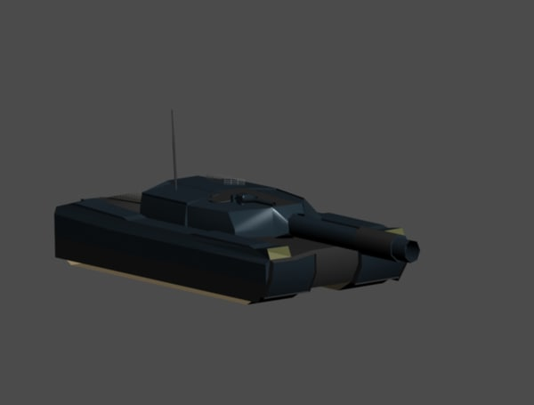 medium battle tank 3d max