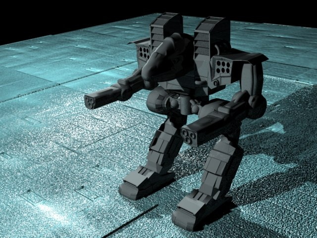 mech assault 3d model