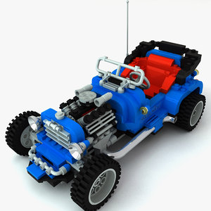 3d hot road lego