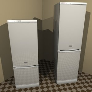 freezer-refrigerator stinol 3d model