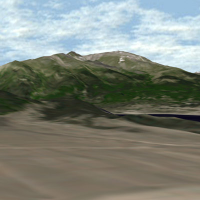 3d usgs mount elbert colorado model