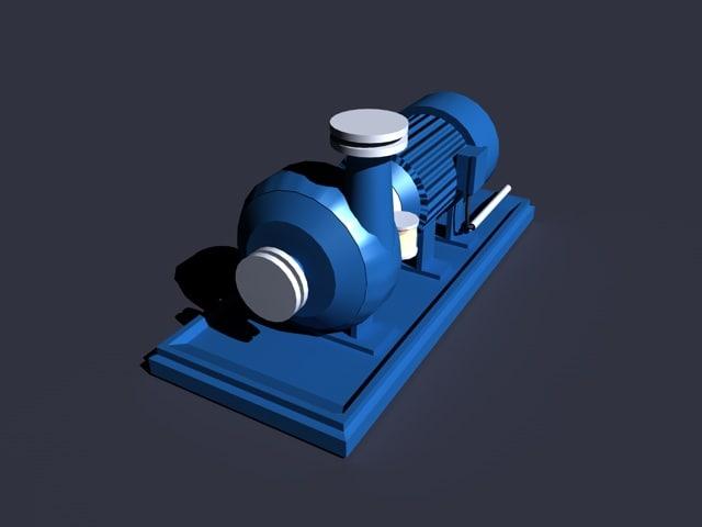 3d model pump