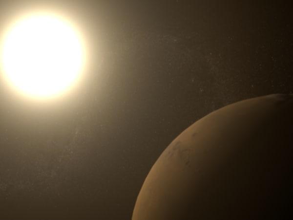 3d planet mars model
