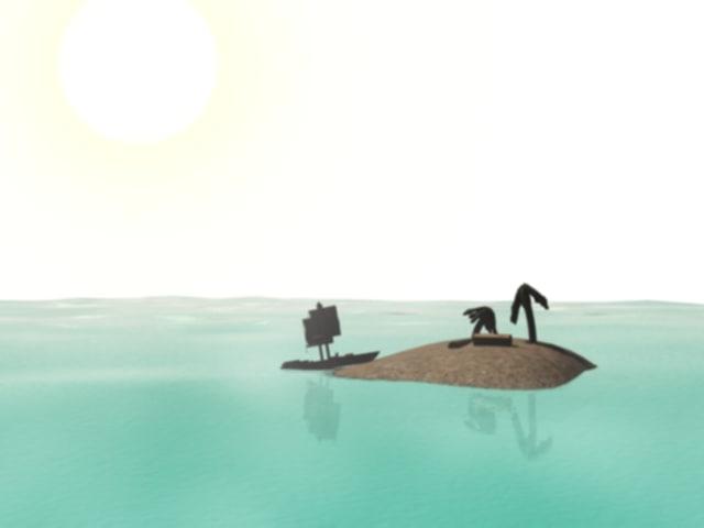 scene island 3d max