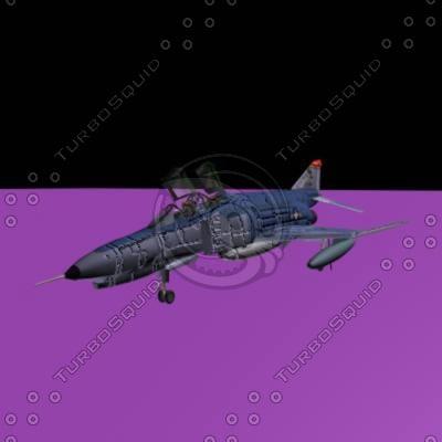 phantom fighter 3d model