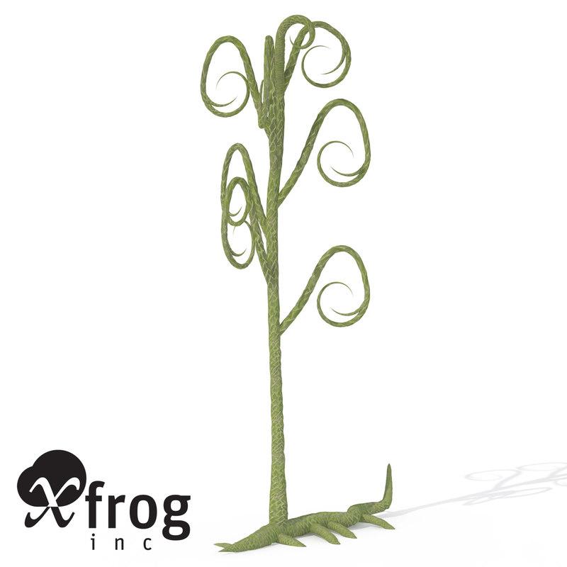 3d xfrogplants asteroxylon plant