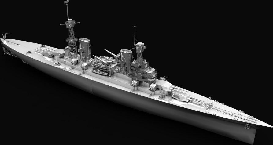 lexington battlecruiser 3d 3ds