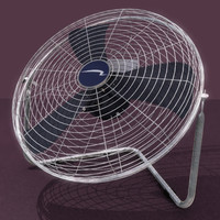 3d model floor-mounted fan mount