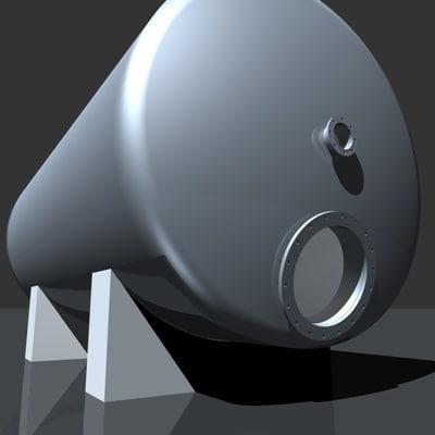 tank element industrial 3d model