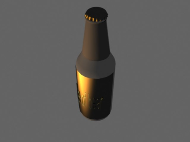 bottle bear 3d model
