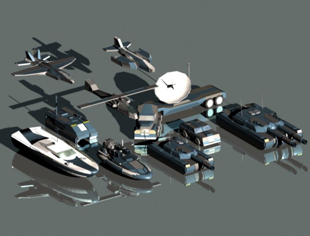3d max set vehicles