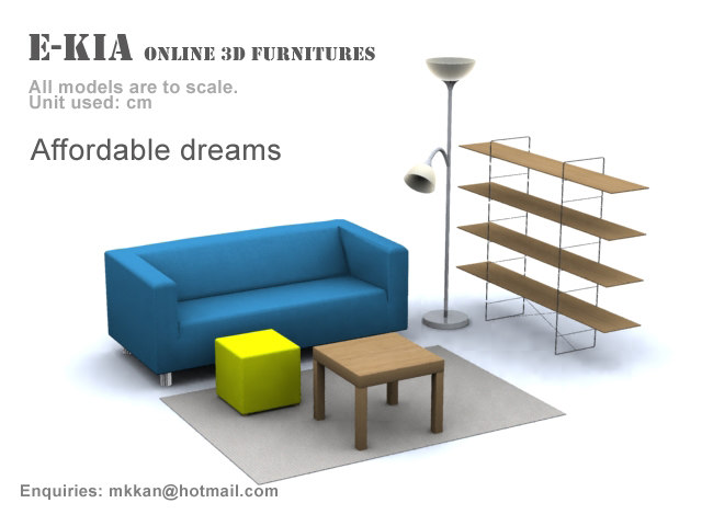 3d max living room furnitures affordable