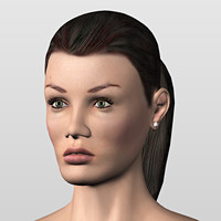 3d hand aj head model