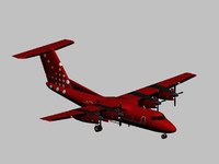 3ds max havilland dash 7