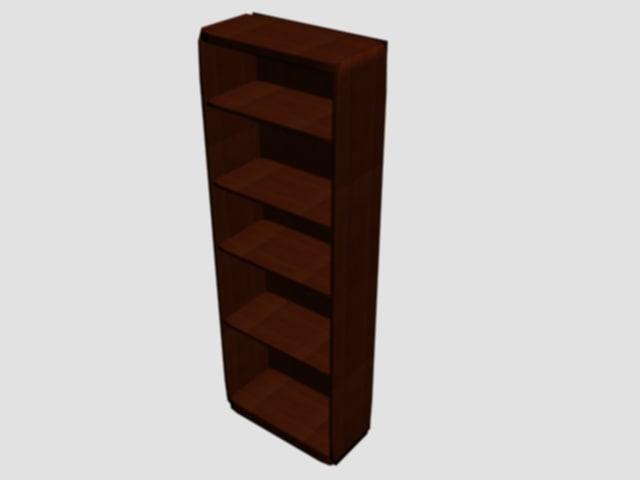 free bookshelf 3d model
